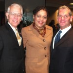 Ibew Third District VP Don Siegel, BM Ralph Aviglianoand Exec. Bd. member Cheryl thomas
