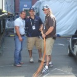 Local 1212 Business Manager Ralph Avigliano with Ryan goldsmith and Matt Kruger at US Open