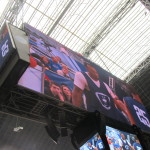 VIDEO SCREEN AT AT & T STADIUM