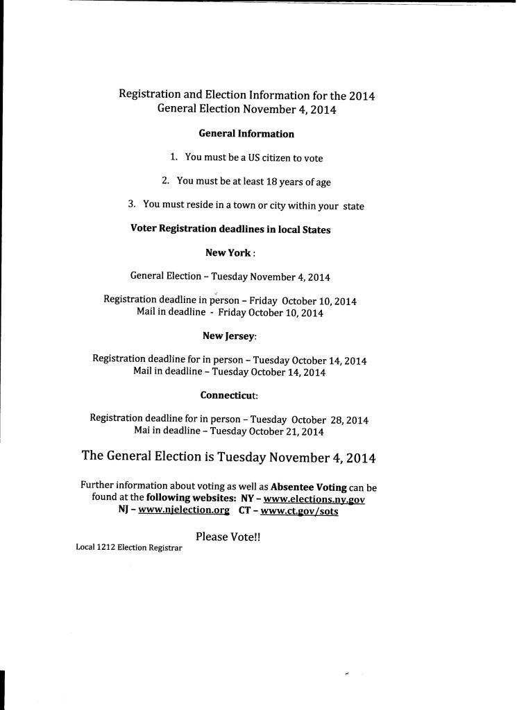 Voter information 2014